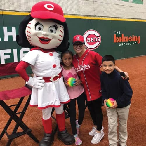 La Mega with Cincinnati Reds Event