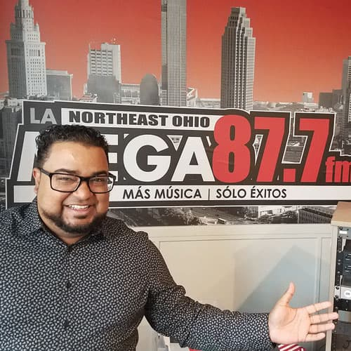 La Mega 87.7 Cleveland Radio DJ photo